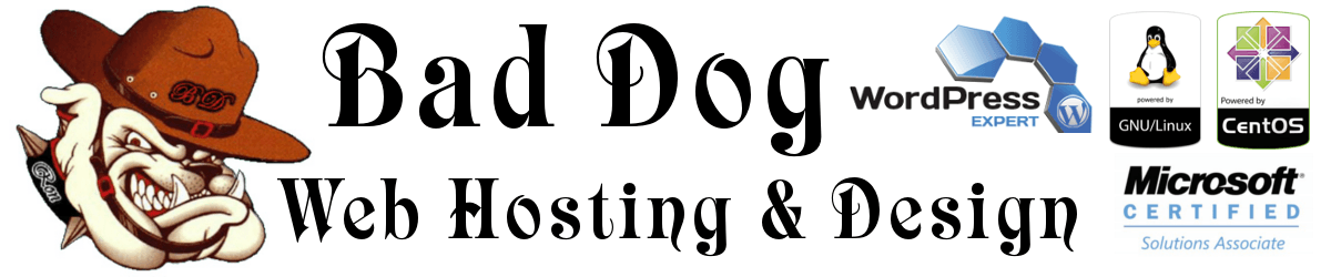 Bad Dog Webhosting Logo