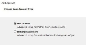 pop or imap